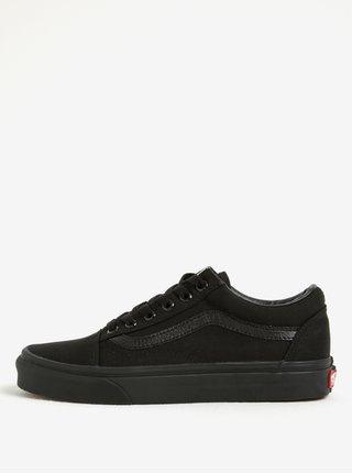 Čierne tenisky s koženkovými detailmi VANS Old Skool