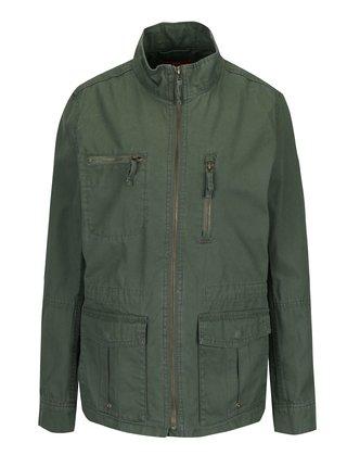 Khaki dámská bunda s kapsami s.Oliver
