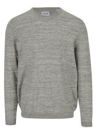 Béžovo-šedý žíhaný lehký svetr ONLY & SONS Alex
