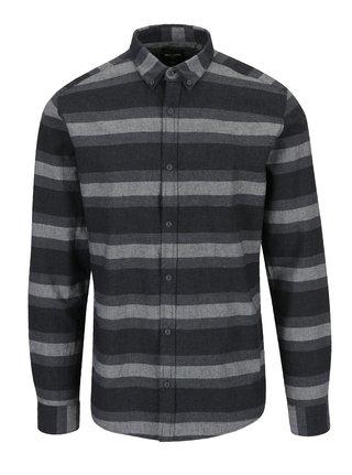 Šedá pruhovaná slim fit košile ONLY & SONS Bror