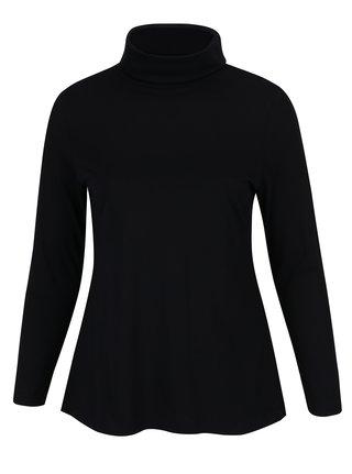 Bluza neagra cu guler inalt Ulla Popken