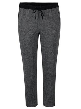 Tmavosivé melírované nohavice s detailmi Ulla Popken