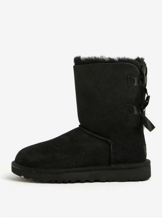 Cizme negre impermeabile din piele - UGG Bailey Bow