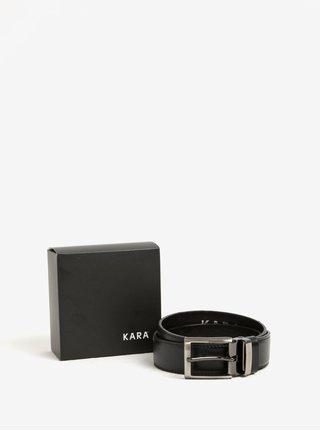 Curea neagra din piele pentru barbati - KARA