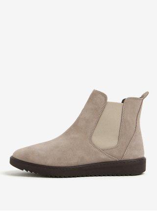 Sivé semišové chelsea topánky OJJU