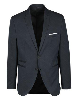 Tmavomodré vzorované oblekové sako Selected Homme Done