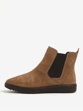 Svetlohnedé semišové chelsea topánky OJJU