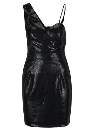 Čierne asymetrické šaty Miss Selfridge