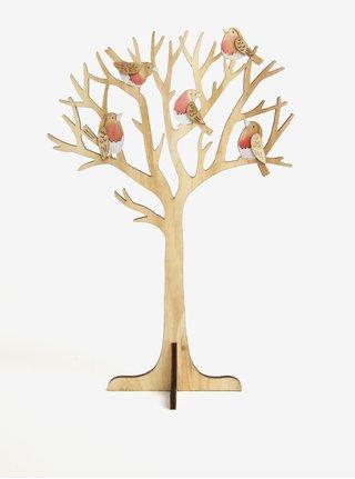 Svetlohnedá drevená dekorácia v tvare stromu Sass & Belle