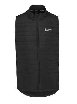 Vesta neagra matlasata impermeabila cu guler inalt Nike Essential