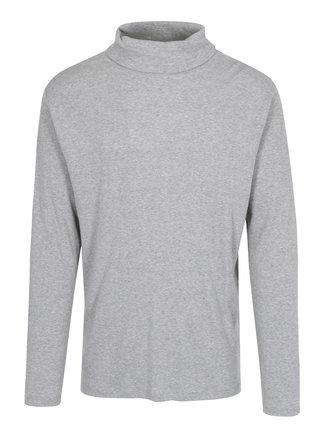 Šedé žíhané žebrované tričko s rolákem Lindbergh