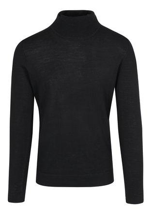 Helanca neagra din amestec de lana merino Lindbergh