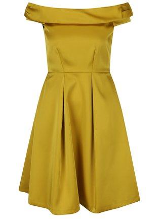 Žlté šaty s odhalenými ramenami Closet