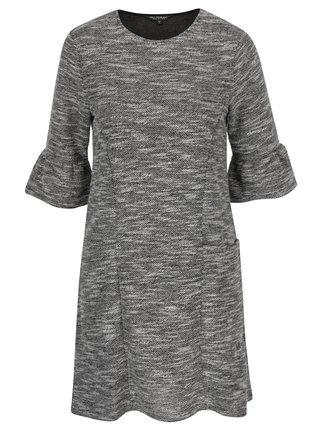 Sivé melírované šaty s volánmi Miss Selfridge
