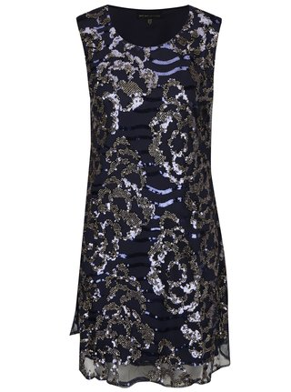 Tmavomodré šaty s flitrami Mela London