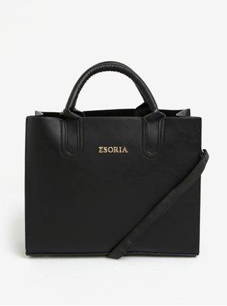 Čierna kabelka s detailmi v zlatej farbe Esoria Monda