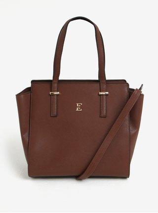 Hnedá kabelka s detailmi v zlatej farbe Esoria Mozami