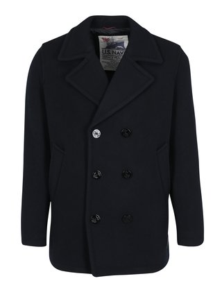 Palton bleumarin din amestec de lana pentru barbati Jack & Jones Vintage Navy