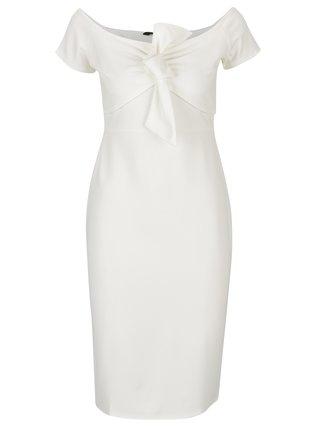 Krémové puzdrové šaty Dorothy Perkins