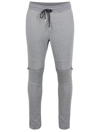 Pantaloni sport cu fermoare Jack & Jones Core Bone