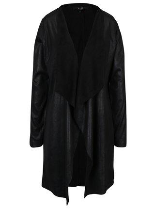 Čierny koženkový kardigán Yest