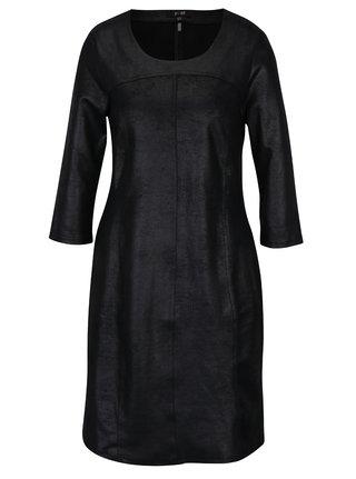 Černé šaty se vzhledem broušené kůže Yest