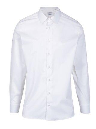 Biela pánska regular fit košeľa odolná proti škvrnám LABFRESH