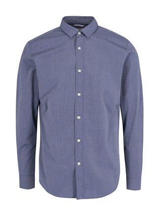 Modrá formálna slim fit košeľa Selected Homme
