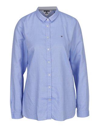 Modrá dámska fitted košeľa Tommy Hilfiger Jenna
