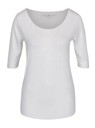 Krémové dámské basic tričko Tommy Hilfiger Jada Ballerina