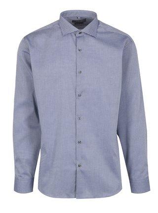 Světle modrá pánská formální košile s jemným vzorem Seven Seas