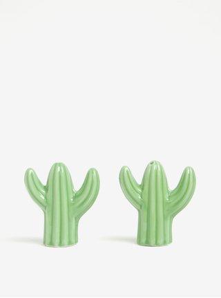 Zelená solnička a pepřenka ve tvaru kaktusu Sass & Belle
