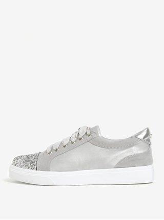 Pantofi sport gri deschis cu varf stralucitor - Miss KG Louie