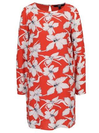 Krémovo-oranžové kvetované šaty VERO MODA July