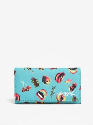 Portofel bleu cu print si compartimentare multipla pentru femei - NUGGET Elise