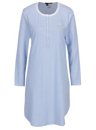 Camasa de noapte alb & bleu cu print in dungi - Ralph Lauren Henley