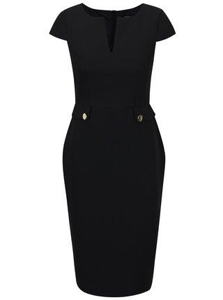 Čierne puzdrové šaty Dorothy Perkins