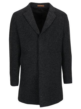 Palton gri inchis din amestec de lana Jack & Jones Premium Marlow