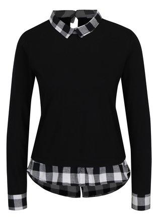 Šedo-černé tričko s límečkem Haily´s Tubi