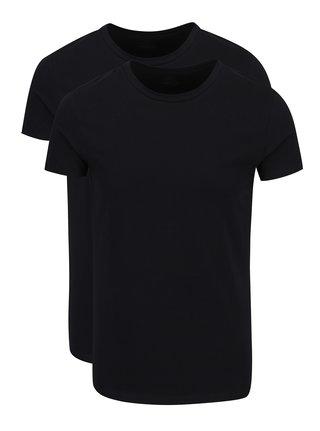 Súprava dvoch čiernych basic tričiek pod košeľu Björn Borg