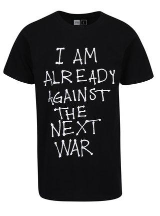 Černé tričko s potiskem Dedicated Stockholm Next War