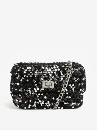 Čierna crossbody kabelka s flitrami Miss Selfridge