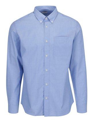 Modrá melírovaná formálna slim fit košeľa Selected Homme Donewawe