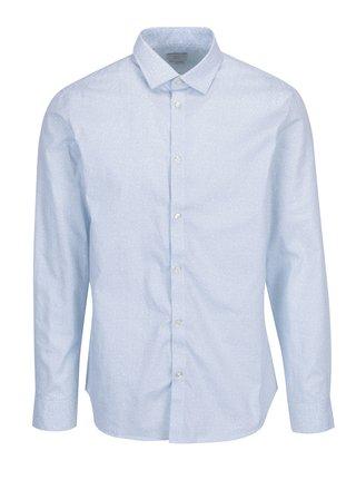 Světle modrá vzorovaná formální regular fit košile Selected Homme One New