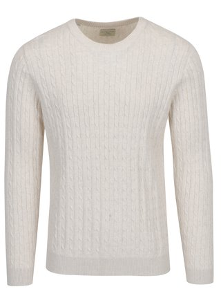 Béžový svetr Selected Homme Clayton
