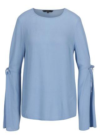 Modrá blúzka s dlhým rukávom VERO MODA Ella