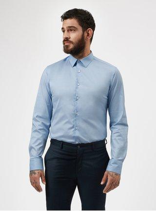 Svetlomodrá formálna slim fit košeľa odolná proti škvrnám LABFRESH