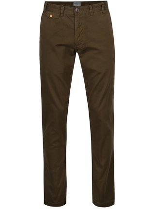 Pantaloni chino kaki regular din bumbac - Barbour Neuston Twill