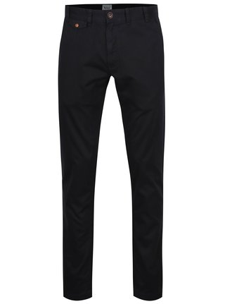 Pantaloni chino negri regular fit din bumbac - Barbour Neuston Twill