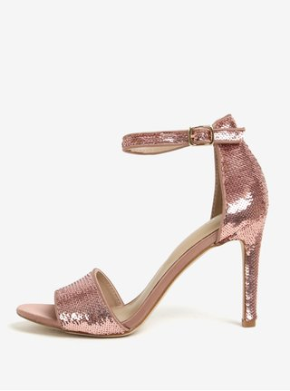 Sandale roz cu paiete si toc cui - ALDO Fiolla